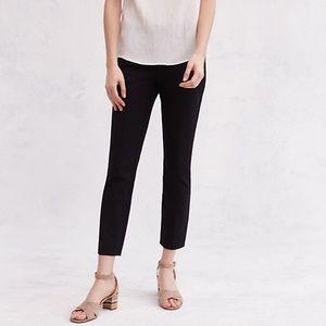 Anthropologie Essential Skinny black pants size 10